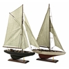 Mesmerizing Set of 2 Antiqued Sailing Vessels