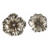 Natalia Stick Silver Flowers - Set of 2