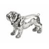 Superb Maximus Stick Silver Dog Statue, Gleaming Silver Hue