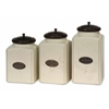 Unmissable, Ivory white, Set Of 3 Ivory Canisters