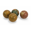 "Surprising Set of 4 Antique Finish Globe 4"" Spheres"