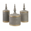 Katrina Metal Lidded Boxes - Set of 3