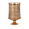 Traditional Lydia Large Copper Glass Pedestal, Copper