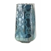 Stunning Piper Large Blue Etched Vase, Blue
