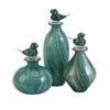 Bellatrix Glass Bird Stopper Bottles - Set of 3