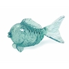 Splendid Pisces Glass Fish Tabletop Statuary, Pale Blue