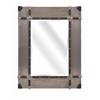 Stunning Baker Aluminum Clad Mirror