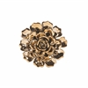 Wonderful Metallic Small Ceramic Wall Flower, Gold Metallic
