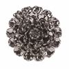 Spectacular Metallic Large Ceramic Wall Flower, Metallic Pewter