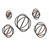 Attractive Spheres Metal Wall Decor - Set of 5