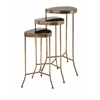 Appealing Harlow Black Mirror Nested Table - Set of 3