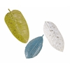 Striking Palm Beach Leaf Tray Wall Decor - Set of 3