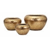 Fancy Vidalia Gold Leaf Planter - Set of 3