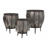 Alluring Mureilene Galvanized Planters - Set of 3