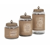 Wonderful Carley Lidded Glass Jars - Set of 3