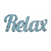 Alluring Relax Metal Wall Decor, Shaded in light blue