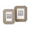 Chic Beth Kushnick Photo Frames, Taupe, Set Of 2
