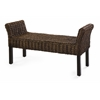 Stylish Caspian Woven Bench, Natural Brown