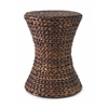 Salton Banana Leaf Ottoman Weave Design Stool, Brown