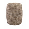 Striking Esteri Banana Leaf Ottoman, Shades Of Brown