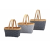 Beautiful Woodrow Natural Woven Baskets, Brown and grey, Set Of 3