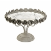 Sweet and Delightful Rose Pedestal Cake Plate, Silver