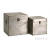 Topnotch, Silver, Set Of 2 Jensen Aluminum Clad Boxes