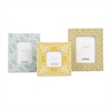 Beautiful Set of 3 Sylvia Geometric Ceramic Frames