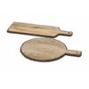 Nakato Wood Bark Cheese Trays, Brown, Set Of 2