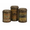 Addie Vintage Label Metal Canisters - Set of 3