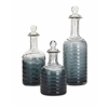 Smartly Styled Beth Kushnick Calgary Glass Bottles, Ombre grey, Set Of 3