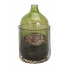 Spectacular Caged Glass Jug, In Shades Of Green