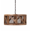 Scintillating Kennedy Wood and Wire Pendant Light, Natural & Black