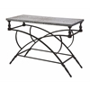 Gorgeous Gilbert Galvanized Console Table, Gray and Black