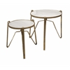 Marley Marble Top Tables - Set Of 2