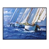 Sail Away Framed Oil Painting, Multicolor