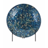 Beautiful Peacock Mosaic Charger and Stand, Multicolor