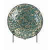 Stylish Glacier Mosaic Charger and Stand, Multicolor