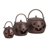 Lidded Pumpkins Brown, Antique Copper, Set Of 3