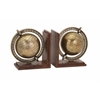 Classy Beth Kushnick Globe Bookends, Natural Brown, Set Of 2