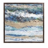 Riveting Seaside Waves Framed Canvas