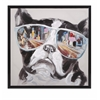 Spellbinding City Shades Dog Framed Canvas