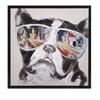 Spellbinding City Shades Dog Framed Canvas