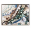 Chic Seamus Marbleized Framed Wall Art, White