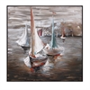Sail Away Oil Painting, Shades of Brown