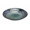 Modern Styled Moody Swirl Glass Tray