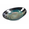 Modern Art Moody Swirl Glass Bowl