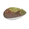 Pine Cone Glass Dish, Brown & Green