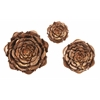 Set of 3 Remarkable Blayney Metal Wall Flowers