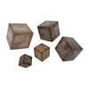 Westlin Cubic Map Wall Decor, Matte Cream, Set Of Five